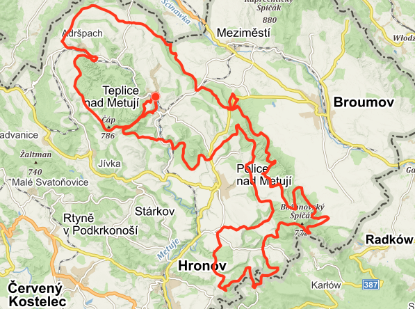 Mapa Rallye Sudety